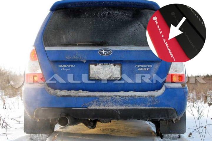 Rally Armor UR Mud Flaps – 2004-2008 Subaru Forester 2.5XT – Red w