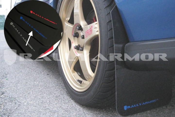 4 Rally Armor Black Basic Mud Flaps w// Black Logo for 1993-2001 Subaru Impreza