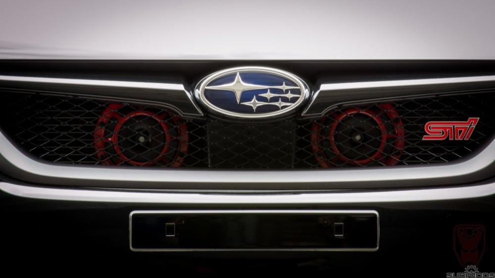 1pcs Black Horn Bracket Compatible for 2008-2014 Subaru Impreza WRX//STi Horn Bracket PQY 2PCS Super Tone Horn