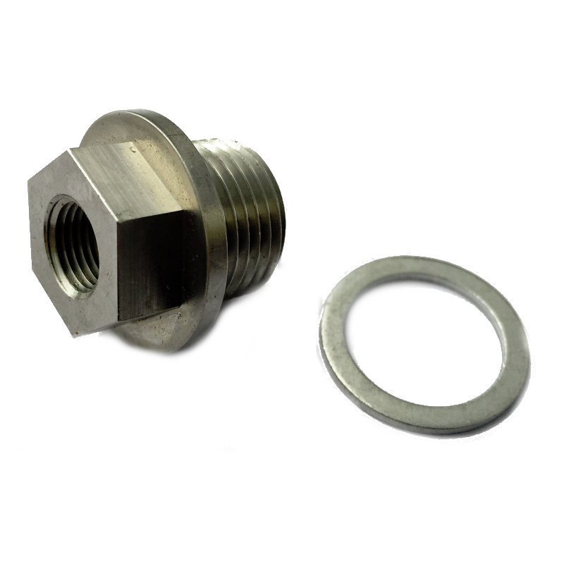Killer B M18 to 1/8NPT Oil Pressure & Temperature Sensor Adapter - Subaru  WRX, STi, FXT, LGT, OBXT & Baja Turbo