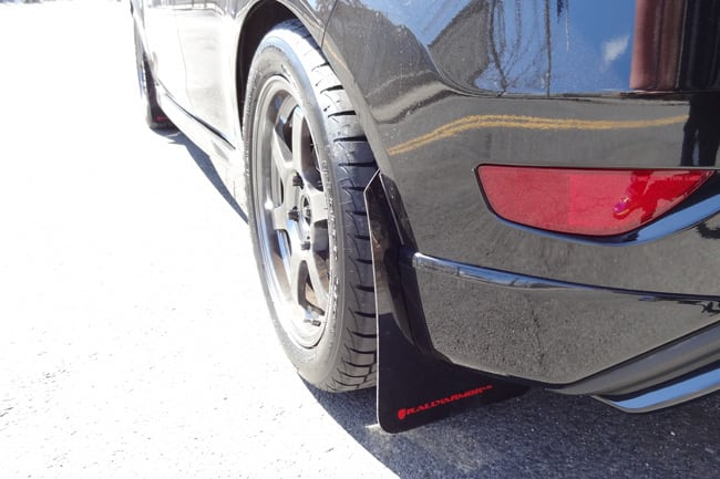 Rally Armor MF29-UR-BLK//RD Urethane Rally Mud Flap Set Black w//Red Logo