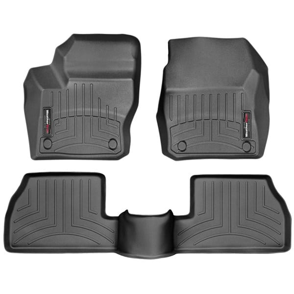 Weathertech Black Front Amp Rear Floor Mats 2013 2016 Ford