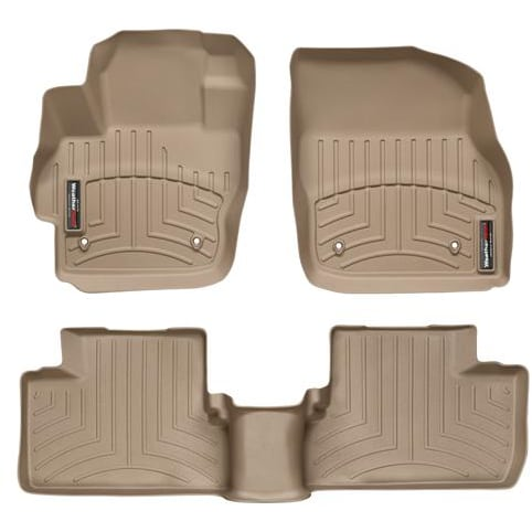 weathertech tan front rear floor mats 2010 2013. Black Bedroom Furniture Sets. Home Design Ideas