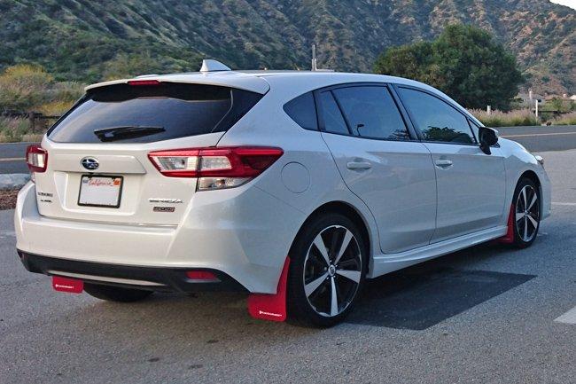 Rally Armor Urethane Mud Flaps – 2017-2019 Subaru Impreza – Red w/ White  Logo