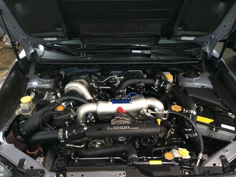 on Subaru Wrx Sti Rotated Turbo Kit