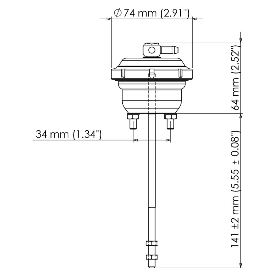 Turbosmart IWG75 Internal Wastegate Actuator – 2014 Ford F150 3 5L Ecoboost