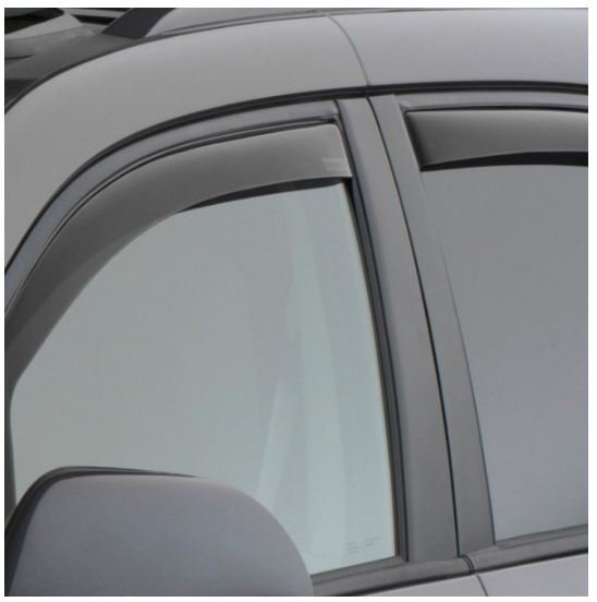 Dark Smoke WeatherTech Custom Fit Front /& Rear Side Window Deflectors for Chevrolet Equinox
