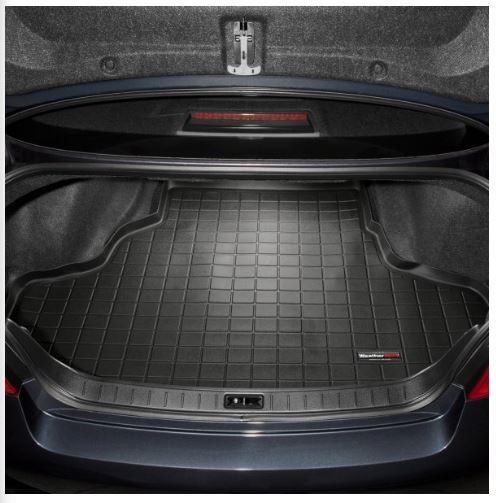 Black WeatherTech Custom Fit Rear FloorLiner for Infiniti G35/G37 ...
